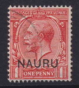NAURU  1916: f/used 1d bright scarlet KGV SG #2 cv £12 · 2 images