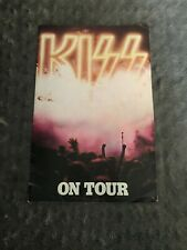 KISS DESTROYER TOUR 1976 OFFICIAL PROGRAM WITH IRON ON  G-VG CONDITION.