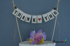 Thank You Wedding Cake Topper Mini Bunting Banner Topping  Announcement