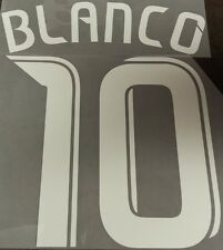 Chicago Fire MLS Cuauhtemoc Blanco 10 Name Set Font Soccer Jersey Futbol Shirt