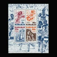 Bahamas, Sc #391a, MNH, 1976, S/S, Olympics, Boxing, Cycling, Sports, SDDAS8Z-A