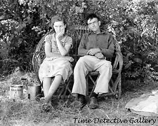 Migrant Couple in Outdoor Living Room, Oklahoma - 1939 - Historic Photo Print