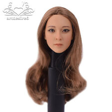 "1:6 KUMIK Female Head Long Hair Sculpt For 12"" Hot Toys Phicen Figure 13-31 Body"