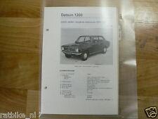 D1-DATSUN 1200,COACH,SEDAN,COUPE EN STATIONCAR 1970-197