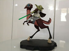 STAR WARS CLONE WARS YODA ON KYBUCK ANIMATED STATUE LIM ED MAQUETTE GENTLE GIANT