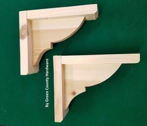 2 x Pine Wooden Shelf Brackets Gallows Bracket 120mm x 140mm FREEPOST