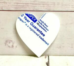 10 x 8cm x 8cm  Hearts 1 hanging hole Perspex Acrylic  Choice of Colours