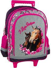 Pferd Pony Horses TROLLEY SCHULRANZEN SCHULRUCKSACK RUCKSACK RANZEN TASCHE SET
