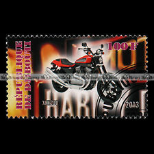 ★ HARLEY-DAVIDSON XR 1200 ★ DJIBOUTI Timbre Moto Collection Motorcycle #216