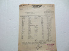 SHAKESPEARE CO. KALAMAZOO MICHIGAN 1927 INVOICE  BAITS REELS BUCKETS +++ FISHING