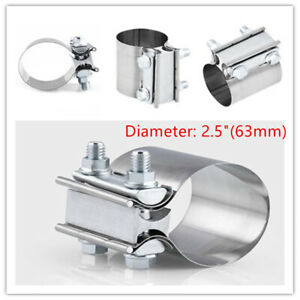 Stainless Steel Exhaust Pipe Clip 2.5Inch Tube Tip Clamp Car Repair Down Pipe
