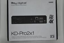 Key Digital KD-Pro2X1 2x1 HDMI Switcher w De-embedding Analog Audio/HDCP2.2/4K