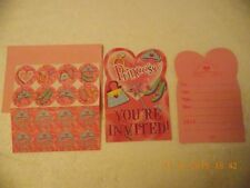 Pack 8 x Princess Theme Party Invitations & Stickers Girls Birthday- 2+ Discount