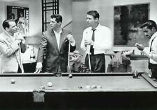 THE RAT PACK PHOTOGRAPH BLACK WHITE POOL BILLIARDS A3 ART PRINT POSTER GZ5511
