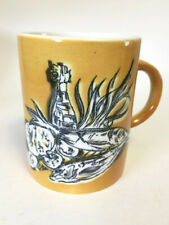 Vintage Seafood Fish Mustard Yellow Coffee Mug by Holt Howard from 1964 #7647