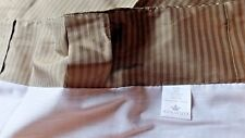"JCP Silk Stripe Curtain Panel Lined 50"" x 72"" Gold  Brown Tone NEW"
