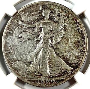 1929-S United States Silver Walking Liberty Half Dollar - NGC VF Details