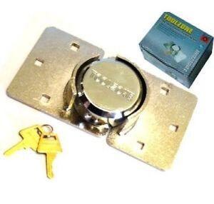 Van Garage Shed Door Security Padlock & Hasp Set Lock H Duty 73mm With  Fixings