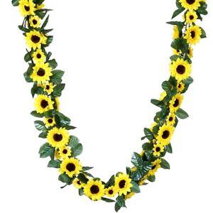 6 ft Yellow Sunflower Silk Garlands Wedding Flowers Decorations WHOLESALE SALE