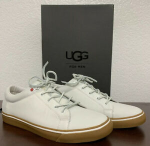 NEW UGG Brock Luxe White Leather Mens  Sneakers Shoes - US size 9 / EU size 42