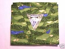 Golf Greens Scrub Top - M 100% Cotton Multi-Color Sports Unisex MAS