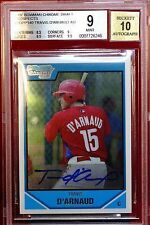 2007 Bowman Chrome Draft Draft Picks Blue Refractors Travis d'Arnaud Philadelphia Phillies #BDPP140 Baseball Card