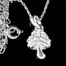 w Swarovski Crystal Cute Magic MUSHROOM Pendant girls Pendant Chain Necklace NEW