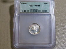 1939 MERCURY DIME PROOF-ICG PF68-EXCELLENT ! FREE SHIPPING..