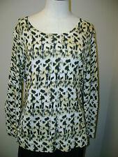 Jones New York Cheetah Pattern Knit Blouse L NWT $89