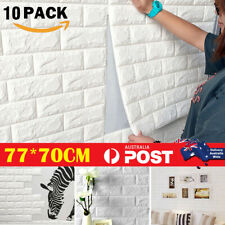10PCS 77*70CM 3D Wall Paper Panel Brick Stickers Mural Marble Adhesive DIY Decal