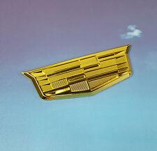 Gold Cadillac Metal Emblem Sticker Badge Decal Fender Trunk Door CTS SRX STS ATS