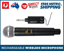 UHF Wireless Microphone System 16 Channel Receiver Lithium Rechargeable Battery