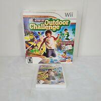 Active Life: Outdoor Challenge Wii 2008 E-Everyone Open Box Tested/Working