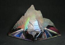 Piramide Cristallo Peacock CASTLE GLAS CRYSTAL COLOUR PYRAMID ORNAMENT 108713-50