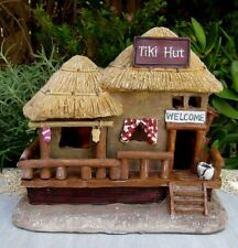 Miniature Dollhouse FAIRY GARDEN ~ Mini BEACH Sea Tiki Hut House w LED Light NEW