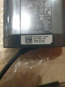 JOB LOT QTY 2 NEW GENUINE SLIM DELL LAPTOP POWER SUPPLY-90W 19.5V & UK MAIN CABL