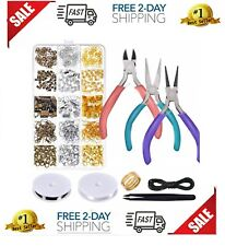 Jewelry Making Tool Kit Set Supplies Findings Starter Pliers Beading Accessories