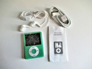 MP4 Player NEW 8GB With Earphones And USB Charger Bundled Light Green Color