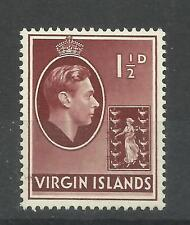 Virgin Islands 1938 Sg 112A, 11/2d Red Brown, Ordinary paper, M/M [885]