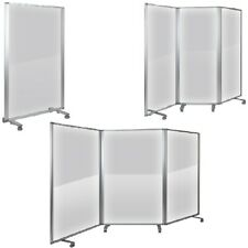 Transparent Acrylic Mobile Partition with Lockable Casters 3 sizes 1-3 sections