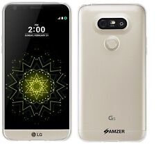 AMZER Exclusive Pudding Matte TPU Case Back Cover For LG G5 Titan VS987 - Clear