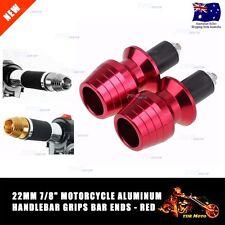 "Motorcycle Bike Handle Bar CNC Aluminum End Cap Plugs Grip End Cap 22mm 7/8"" RED"