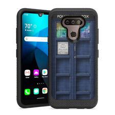 New listing Cute C 00006000 arbon Men Design Black Case Lg Premier Pro Plus - Blue Tardis Phone Booth