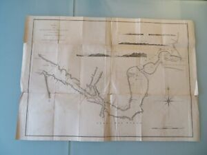 Large Map Chart Straights of Magellan South America by Byron Wallis 18th century