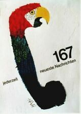 Original vintage poster TELEPHONE PARROT LATEST NEWS 1967