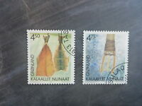 2001 GREENLAND CULTURE FISHING SET 2 USED STAMPS