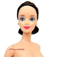 Poupée Barbie brune yeux bleus Twist n turn Nude NEUF