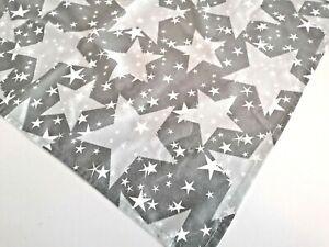 Weihnachts- Tischdecke Sterne Grau  -  Mitteldecke Tischläufer 50x70cm