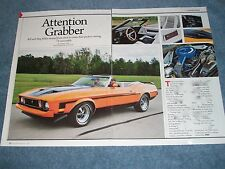 """1973 Ford Mustang Convertible Article """"Attention Grabber"""""""