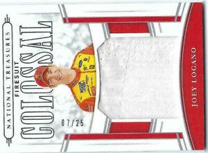 JOEY LOGANO 2020 PANINI NATIONAL TREASURES NASCAR 7/25 FIRESUIT COLOSSAL